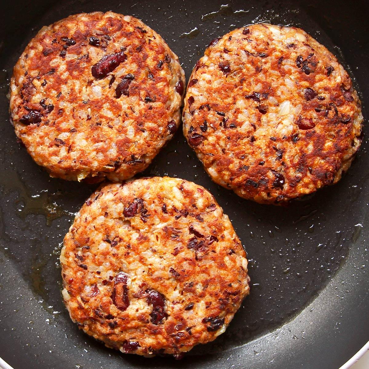 Burger Patties aus Kidneybohnen