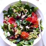 Feldsalat mit Bulgur und Blutorangen