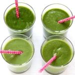 Grüner Smoothie mit Apfel und Ingwer