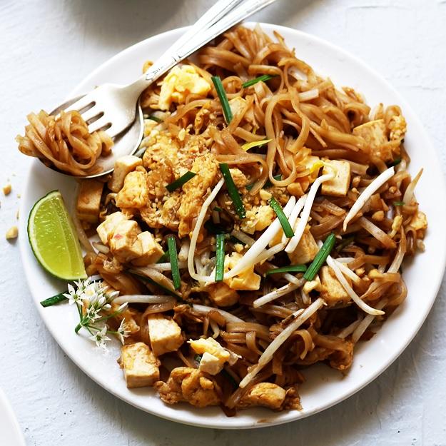 Schnelles Vegetarisches Pad Thai