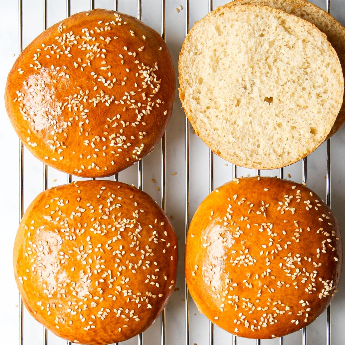 Fluffige Kartoffel-Burger-Brötchen