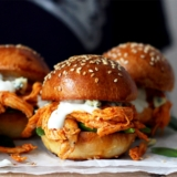Rezept Pulled Chicken Mini-Burger