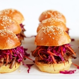 Rezept Pulled Pork Sliders mit Coleslaw