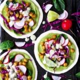 Rezept Tacos mit Kichererbsen und Spinat