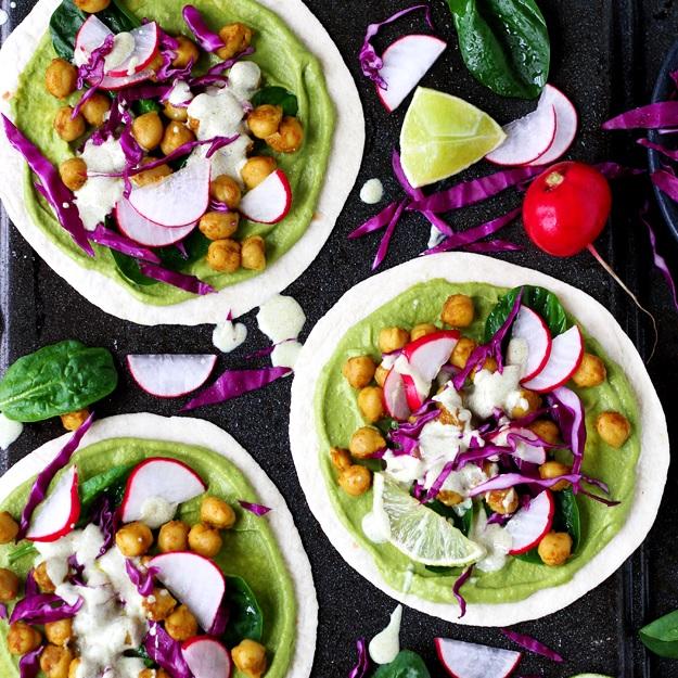 Grüne Frühlings-Tacos