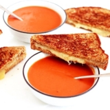 Rezept Tomato Soup mit Grilled Cheese Sandwich