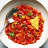 Rezept fermentierte rote Salsa mit Tomaten und Pfirsich