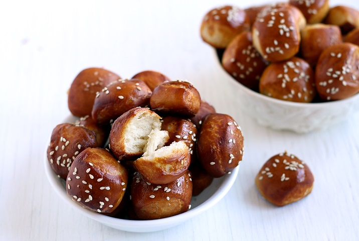 Rezept flaumige Pretzel Bites