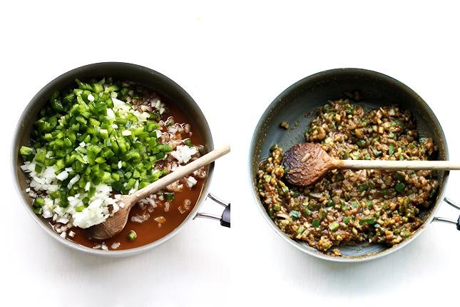 Roux und Gemüse für Lousiana Gumbo