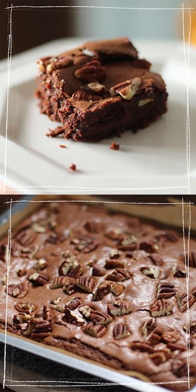 Saftige Brownies von Elisabeth nach dem Rezept von tasteoftravel.at gebacken
