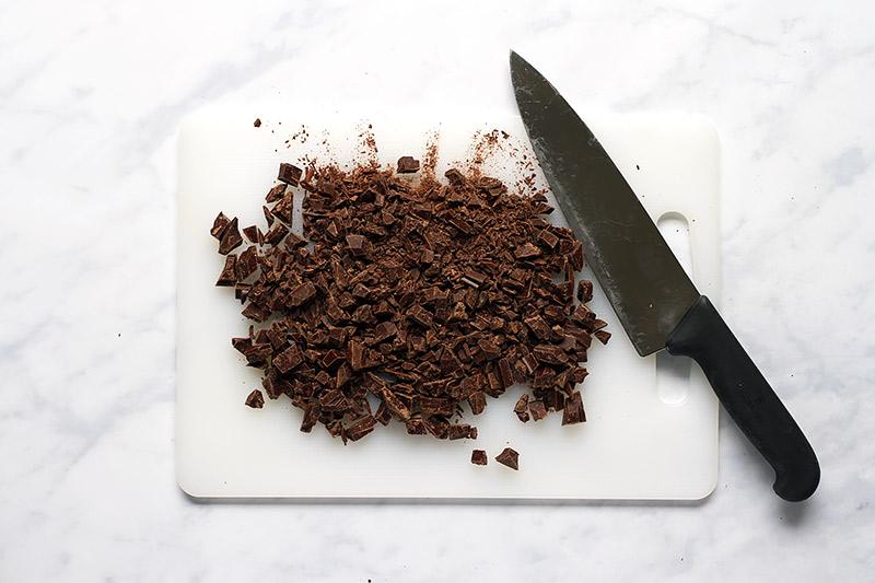 Schokolade für Brownie Kekse