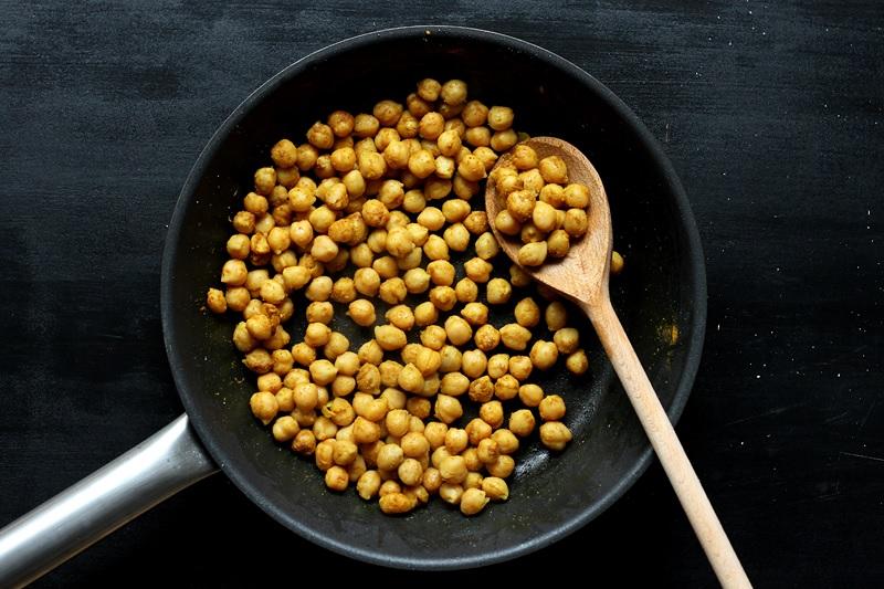 Schnelle Currykichererbsen Rezept