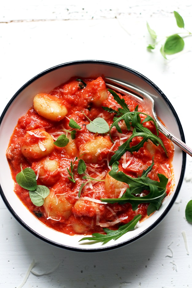 Schnelle Gnocchi mit Tomatensauce Rezept