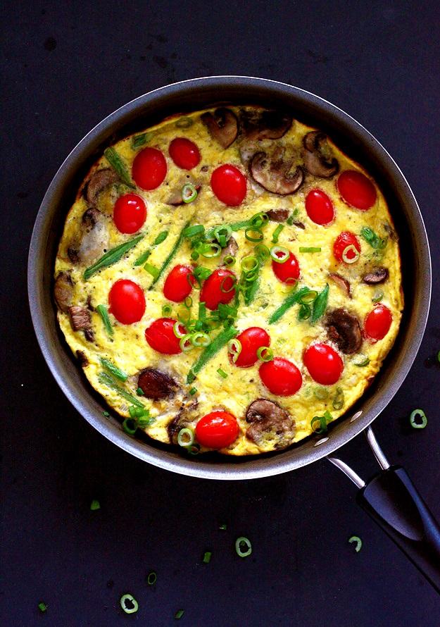 Schnelle Gemüse-Frittata Rezept