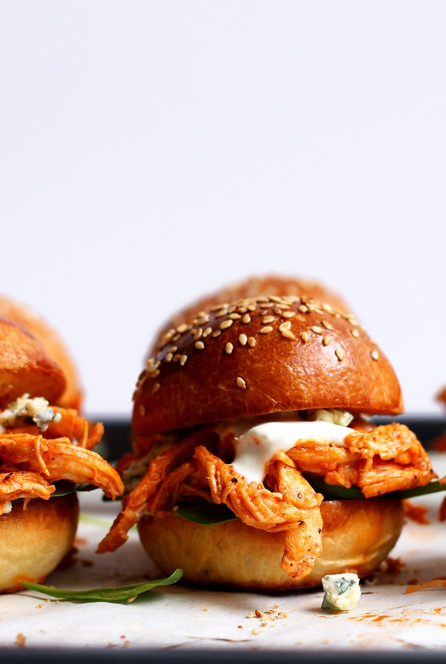 Schnelles Pulled Chicken Sliders Rezept