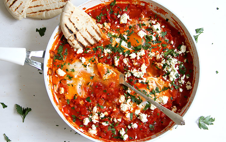 Shakshuka mit frischen Tomaten Rezept Israel