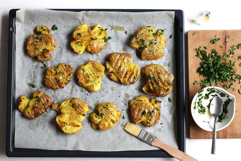 Smashed Potatoes einfaches Rezept