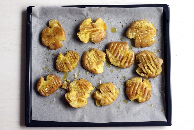 Smashed Potatoes würzen Rezept