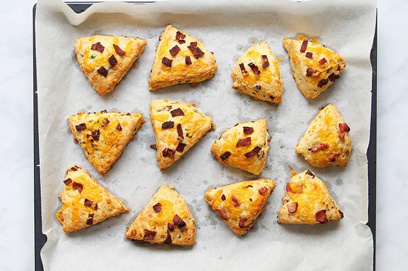 Speck Käse Scones Rezept