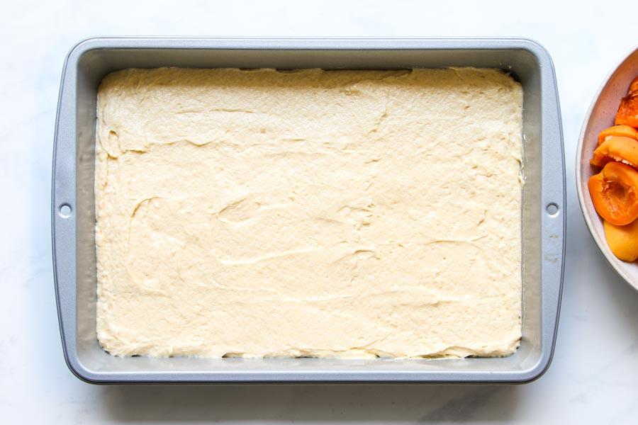 Teig für Marillenkuchen vom Blech Rezept