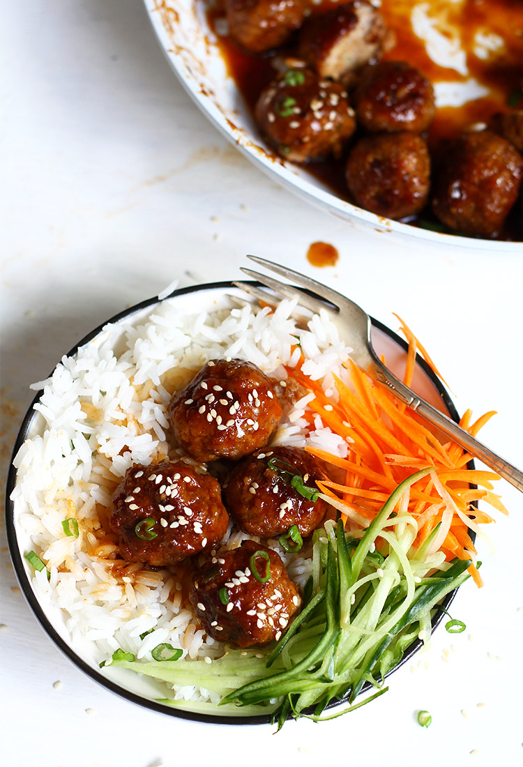 Teriyaki Fleischbällchen einfaches Rezept
