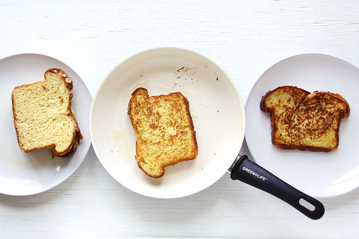Toast mit Brioche in Pfanne Rezept