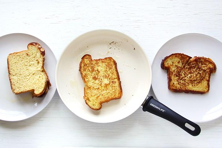 Toast mit Brioche in Pfanne Rezept