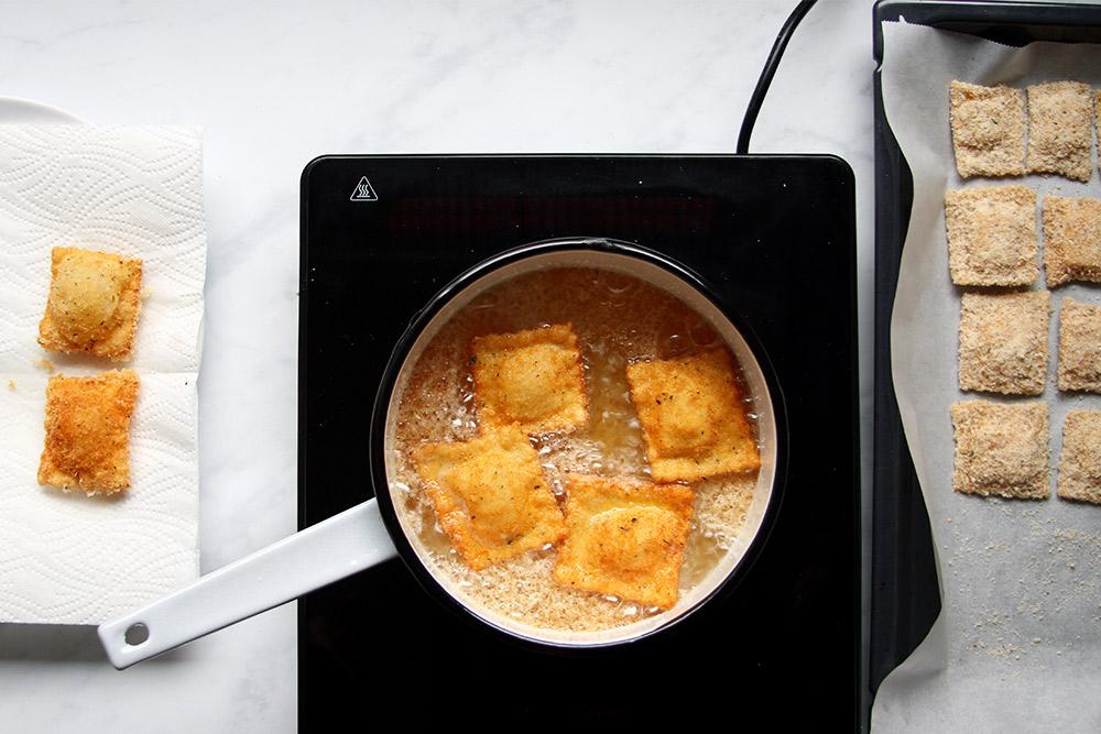 Toasted Ravioli mit Käse Rezept