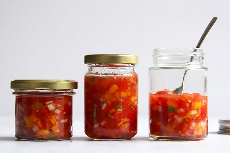 Tomaten Pfirsich Salsa fermentiert Rezept