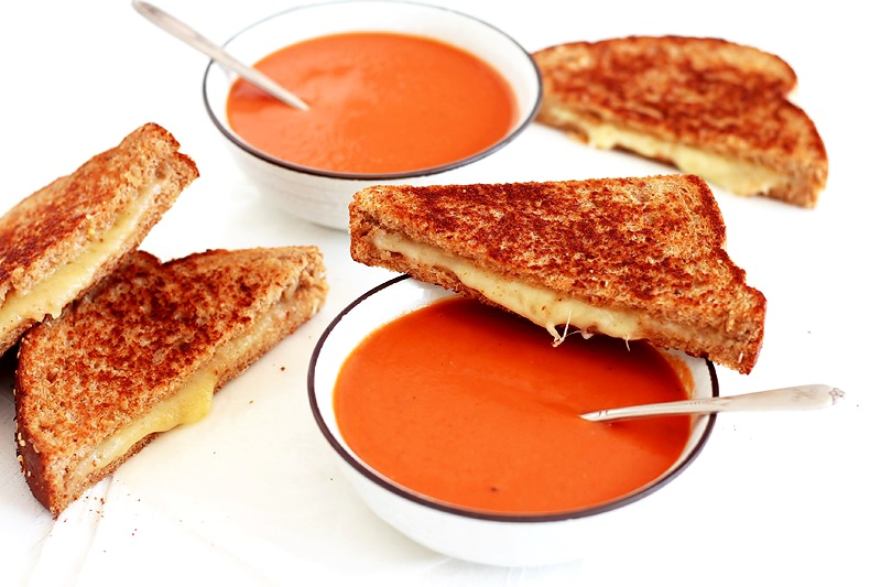 Tomato Soup mit Grilled Cheese Sandwich Rezept