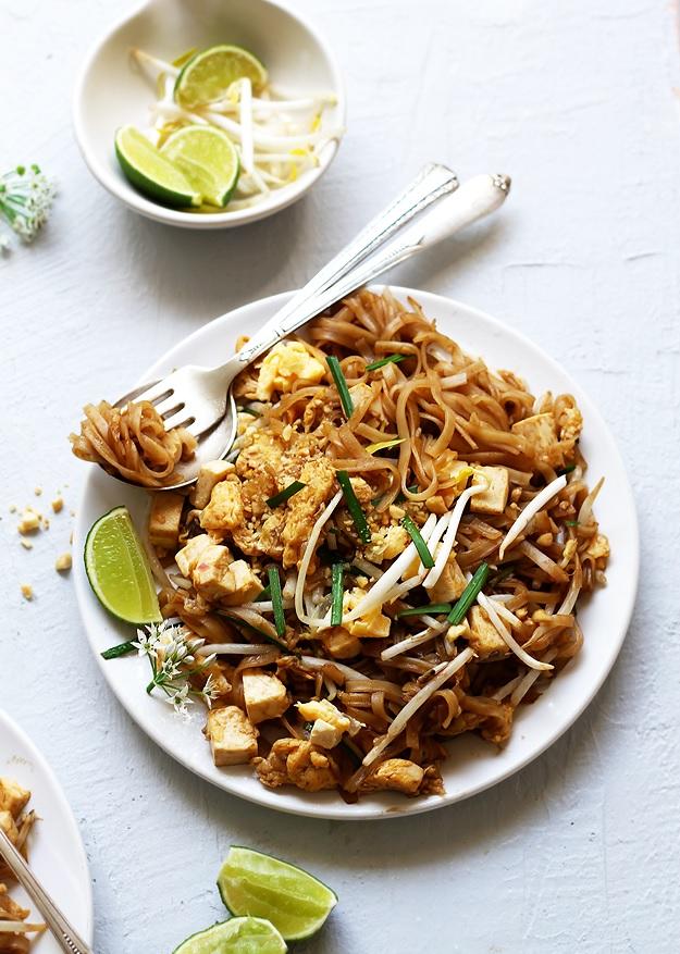 Vegetarisches Pad Thai Rezept