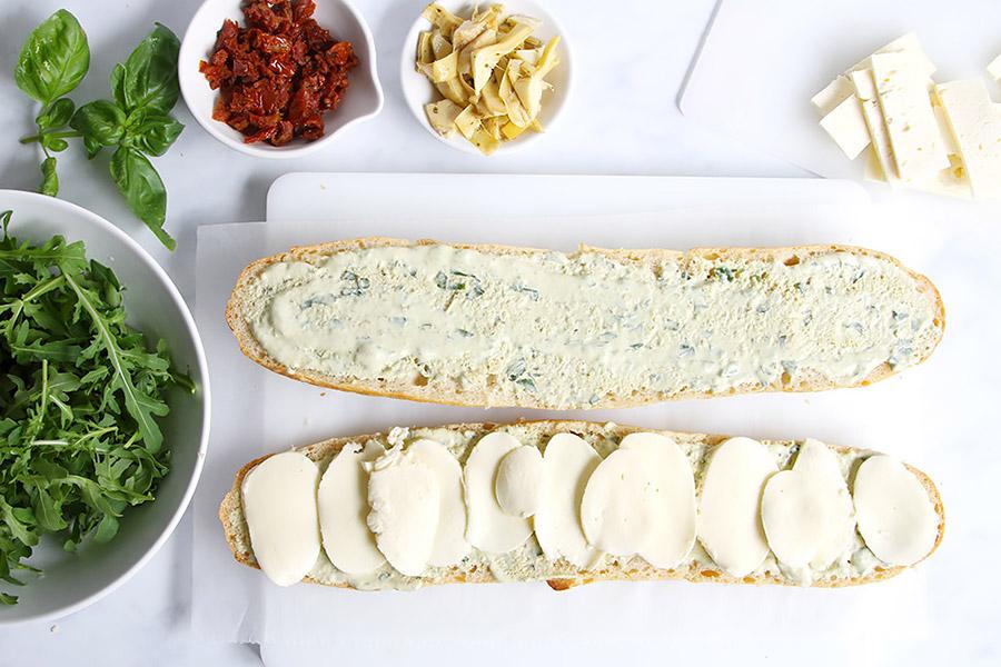 Vegetarisches Sandwich Rezept