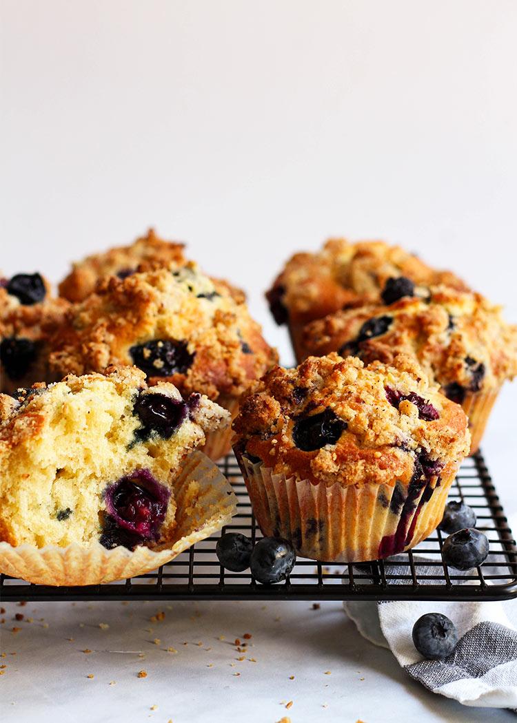 Weiche Blueberry Muffins Rezept