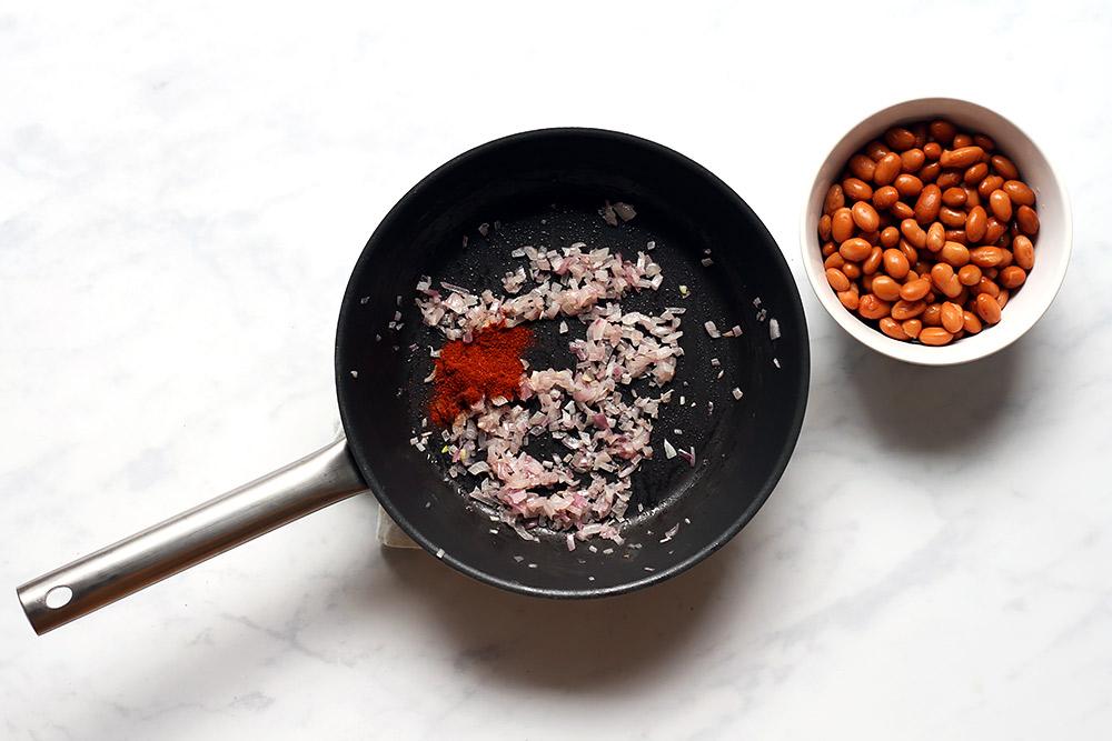 Zubereitung Bohnen Huevos Rancheros