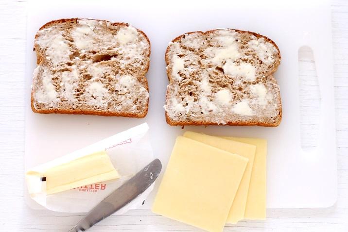 Zubereitung Grilled Cheese Sandwich