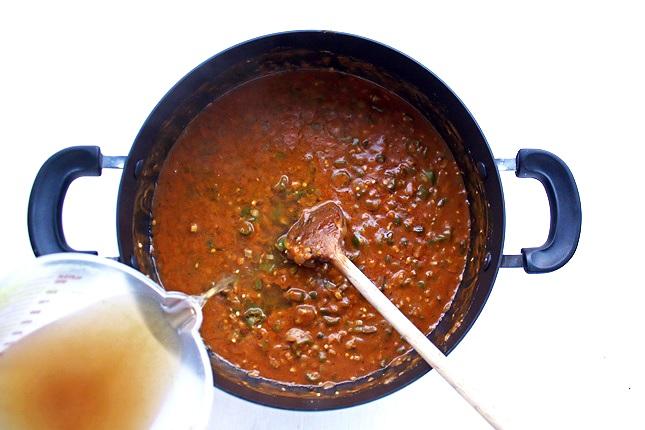 Zubereitung Lousiana Gumbo mit Huhn und Wurst