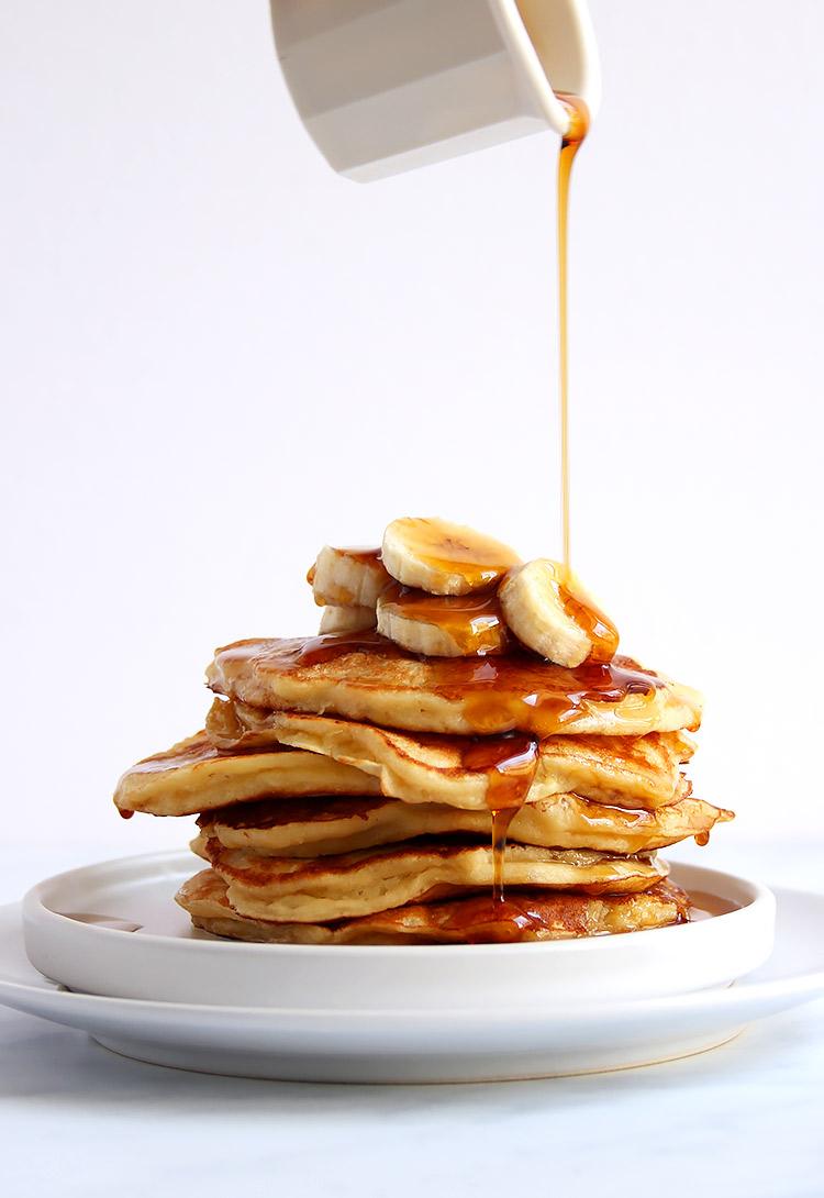Zuckerfreie Banana Pancakes Rezept