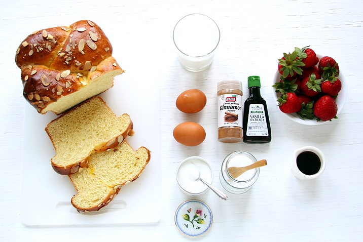 brioche french toast mit erdbeeren. Black Bedroom Furniture Sets. Home Design Ideas