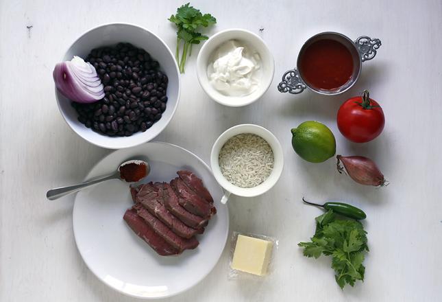 Zutaten Steak Burrito