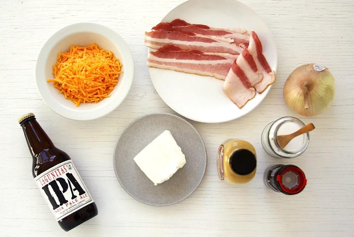 Zutaten für cremigen Käsedip - Rezept