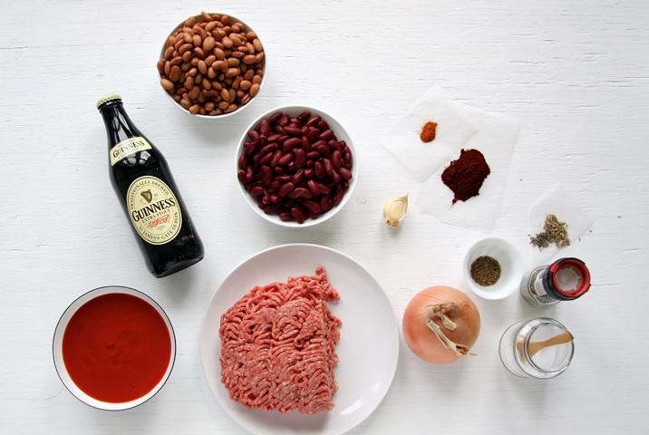 Zutaten für Chili con Carne