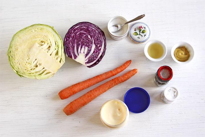 Zutaten für Coleslaw