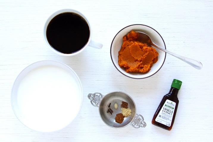 Zutaten für Pumpkin Spice Latte