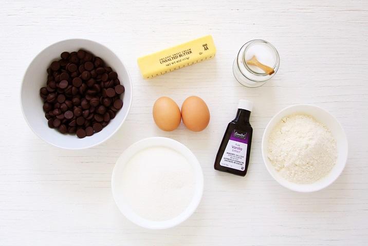 Zutaten für saftige Brownies